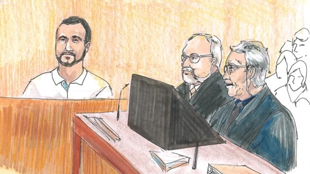 Omar Khadr made his first appearance in public, in an Edmonton courtroom on Monday, since he was captured by American soldiers as a 15-year-old in Afghanistan 11 years ago.