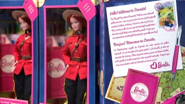 The limited edition RCMP Barbie is part of a 'Dolls of the World' collection that places the iconic doll in clothing that symbolizes different countries.