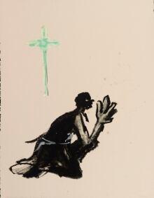 pretending to pray by Robert Houle