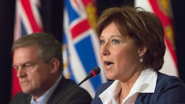 New Brunswick Premier David Alward and British Columbia Premier Christy Clark 