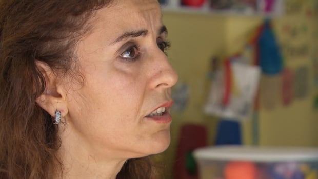 Samia Khemici says a mult-child stroller known as a poupons-bus was stolen from her daycare in Rosemont.