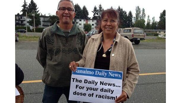 Protesters gather in Nanaimo