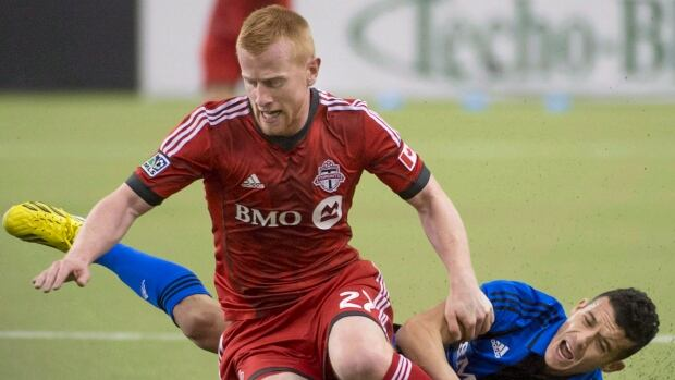 Toronto FC's Richard Eckersley's salary was listed at $390,000 US last year and $310,000 this season.