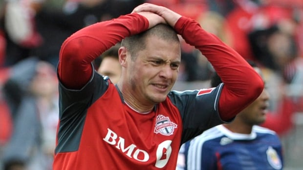Toronto FC's Danny Koevermans has seen just 78 minutes of action this year, with only one start.