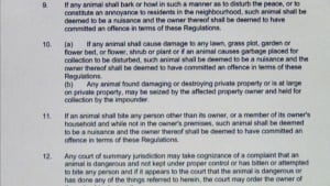 Grand Falls-Windsor pet bylaw