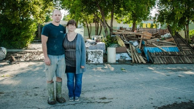 Karla and Gary Adolphe, parents to a three-year-old and a baby due in October, were living in their RV while they renovated their new home when the flood hit High River.
