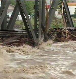 high river cp bridge flood