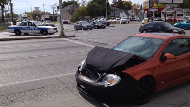 Winnipeg police closed a section of Nairn Avenue on WEdnesday afternoon following a serious crash.