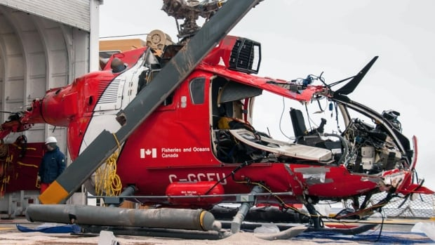 The TSB has recovered the wreckage of the helicopter that crashed into the Arctic Ocean earlier this month.