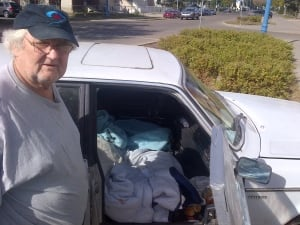 Jerry Chappel lives in his car in Edmonton