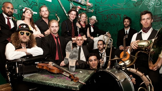 Toronto band Lemon Bucket Orkestra, which became a viral video sensation with its impromptu performance on a delayed Air Canada flight in 2012, is a top nominee for the 2013 Canadian Folk Music Awards.