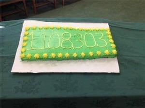 Population celebration cake