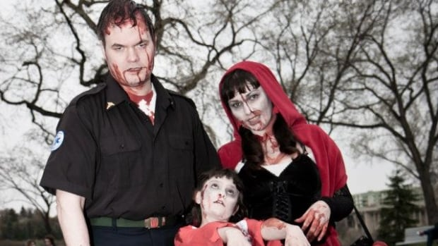 Some of the participants from the 2012 Zombie Walk in Saskatoon.