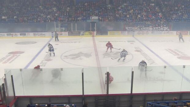 The Sudbury Wolves' home opener was cancelled last week due to excessive humidity, which caused thick fog on the ice.