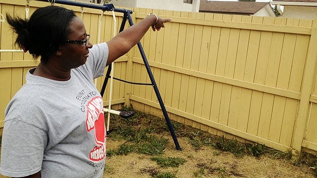 """Daycare owner Jackie Mighty said the quick actions of a roofer nearby scared off the man who was cursing at her and yelling """"the children need me."""""""