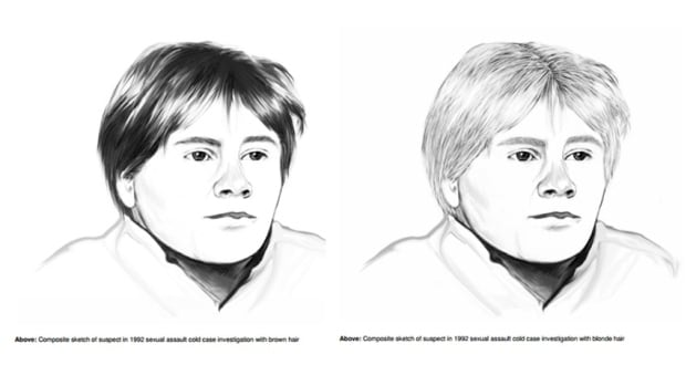 Toronto police re-released these composite sketches of a suspect linked to two sexual assaults in Toronto and Vancouver in the 80s and 90s.