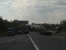 Tractor trailer crash on Highway 401