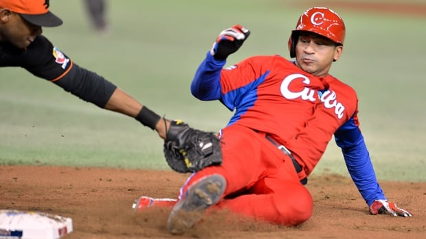 Cuba's Frederich Cepeda during a game in the World Baseball Classic tournament at Tokyo Dome on March 11, 2013.