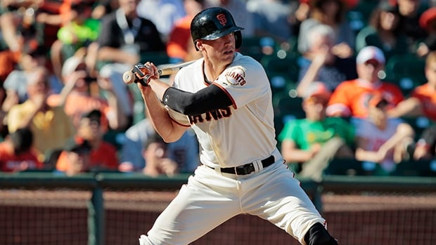 Hunter Pence received the Willie Mac Award on Friday, given to the most inspirational member of the Giants.