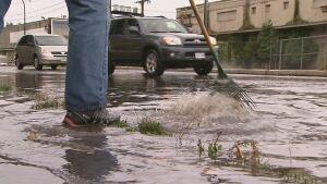 Vancouver rainfall street flooding