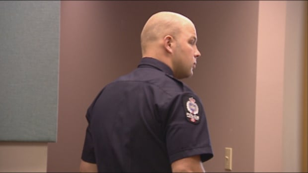 "Const. Jack Redlick testified in May that Cyrus Green has raised a knife to his shoulder, holding it ""like a spear."""