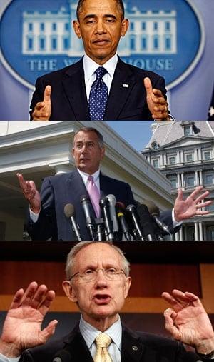 Budget showdown trio
