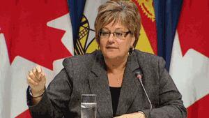 Social Development Minister Madeline Dubé