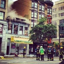 DTES fire