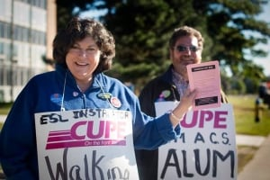 CUPE 1393 picket line