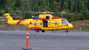 Comox Search and Rescue Comorant helicopter