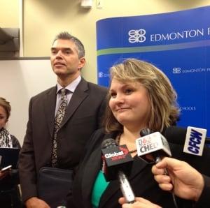 Edmonton Public School Board chair Sarah Hoffman