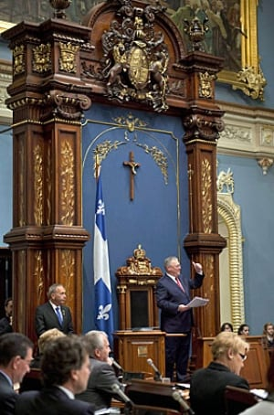 Quebec assembly cross