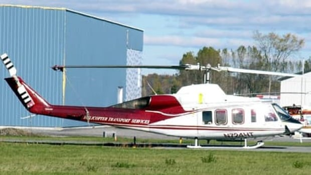A Bell 214 ST, such as this one at an airport near Ottawa, crash near Newfoundland in 1985.