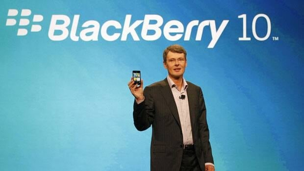 Research In Motion CEO Thorsten Heins delivers the keynote speech during the BlackBerry World conference Tuesday in Orlando Fla.