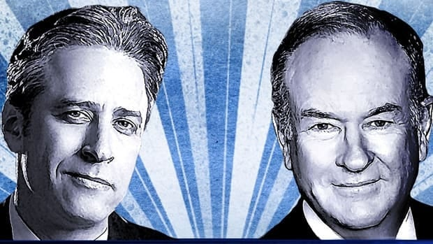 In a comedic follow to the first U.S. presidential election, Jon Stewart of The Daily Show and Bill O'Reilly of The O'Reilly Factor duked it out for 90 refreshingly rude minutes on Saturday night.