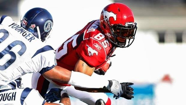 Ken-Yon Rambo had 51 catches last season with Calgary but is coming off a serious injury.