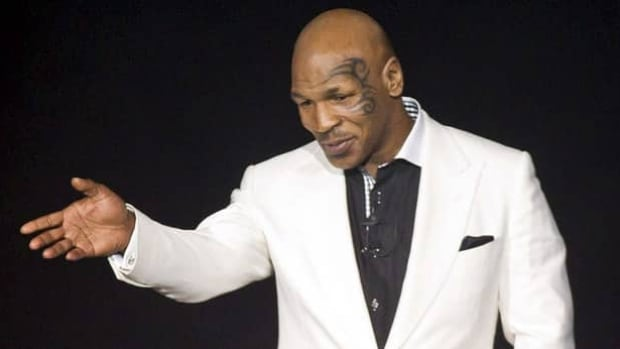 Mike Tyson speaks during his show, Mike Tyson: Undisputed Truth as it opens on April 14, 2012, at MGM Grand in Las Vegas.