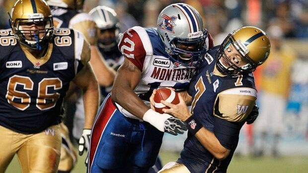 The Montreal Alouettes defeated the Winnipeg Blue Bombers 36-26 in their last meeting Aug. 3.