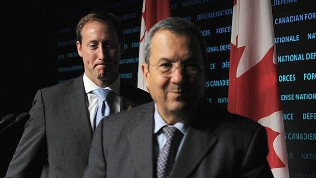 Defence Minister Peter MacKay, seen here during a press conference with Israeli defence minister Ehud Barak in Ottawa last fall, told Israel's top military commander during a visit to the Middle East in January 2011 that a threat to Israel is a threat to Canada.