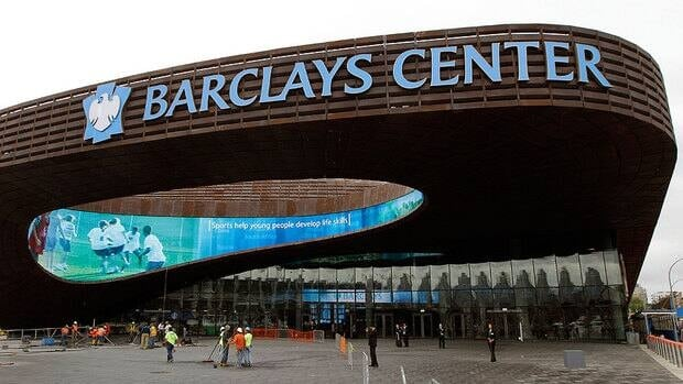 The Barclays Center in Brooklyn, N.Y., is home to the NBA's Nets.