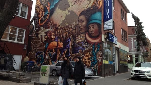 In Montreal's Plateau neighbourhood, art is easy to find.