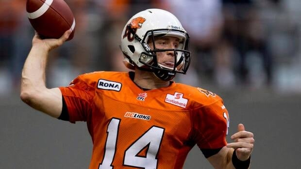 B.C. quarterback Travis Lulay was banged up the last tim the Lions faced Calgary, in a relatively meaningless game.