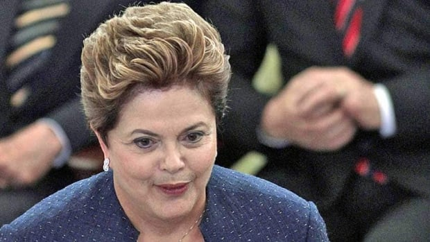 Brazil's President Dilma Roussef speaks during the installation of Truth Commission at Planalto presidential palace in Brasilia, Brazil, Wednesday.