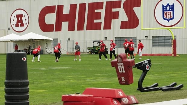 Kansas City Chiefs' practice facility in Kansas City, Mo. Police say a 25-year-old player was involved in a murder-suicide at the stadium.