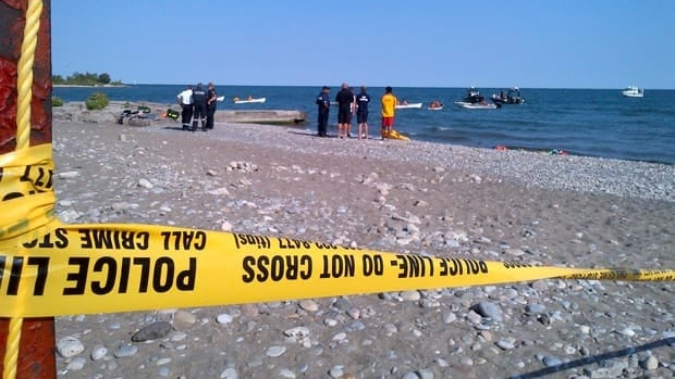 The Toronto police marine unit was out on the water near Woodbine Beach on Thursday afternoon.