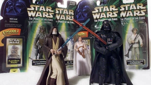 Star Wars action figures Darth Vader, right, and Ben (Obi-Wan) Kenobi, left, were inducted into the U.S. National Toy Hall of Fame on Thursday.