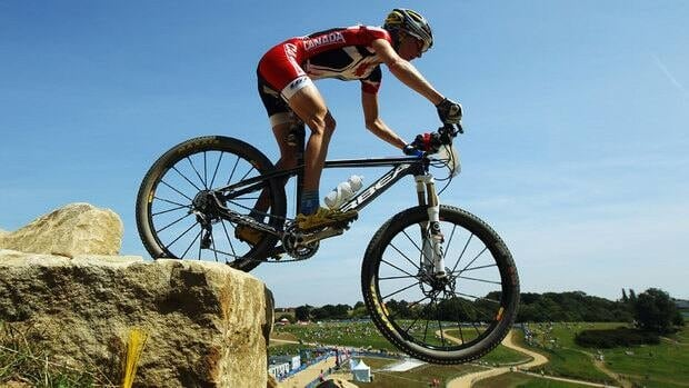 Catharine Pendrel won the Olympic test event held last July at Hadleigh Farm.