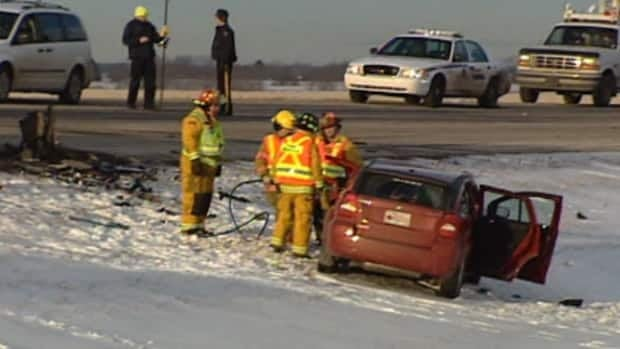 Two men were killed in a head-on crash outside Morinville Tuesday afternoon.