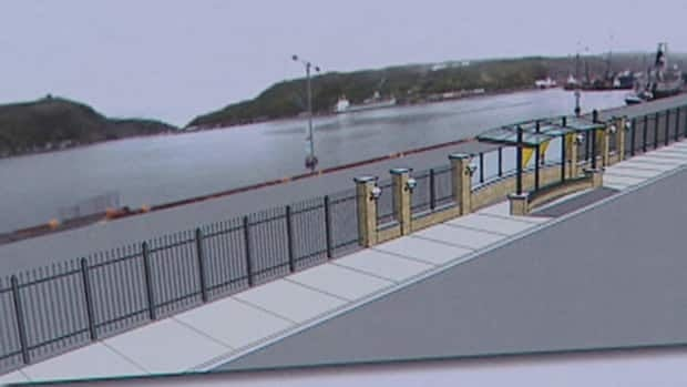 The proposed design for a new fence along the St. John's Harbourfront.