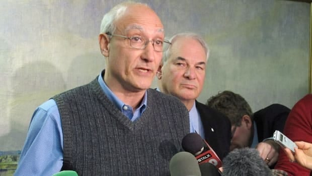 Paul Magder, at left, and lawyer Clayton Ruby, at right, have agreed to a stay of the order that Toronto Mayor Rob Ford vacate his seat.